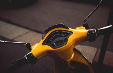 una moto de alquiler